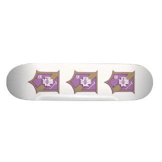 Sigma Pi Shield 2-Color Skateboard