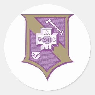 Sigma Pi Shield 2-Color Stickers