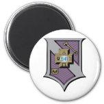Sigma Pi Shield 4-Color 2 Inch Round Magnet