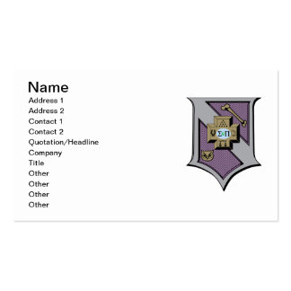 Sigma Pi Shield 4-Color Double-Sided Standard Business Cards (Pack Of 100)