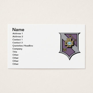 Sigma Pi Shield 4-Color Business Card