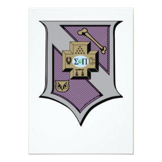 Sigma Pi Shield 4-Color Card