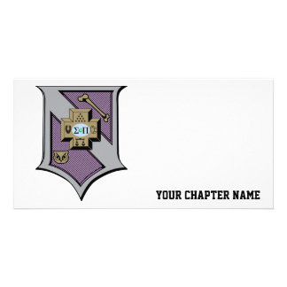 Sigma Pi Shield 4-Color Photo Greeting Card