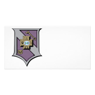 Sigma Pi Shield 4-Color Customized Photo Card