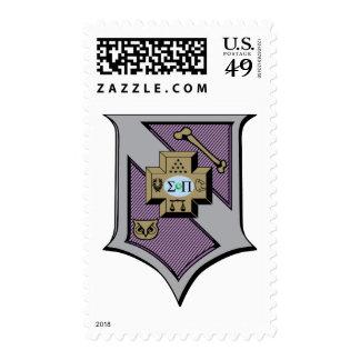 Sigma Pi Shield 4-Color Postage Stamp
