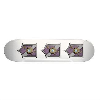 Sigma Pi Shield 4-Color Skateboard