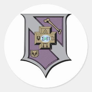 Sigma Pi Shield 4-Color Stickers
