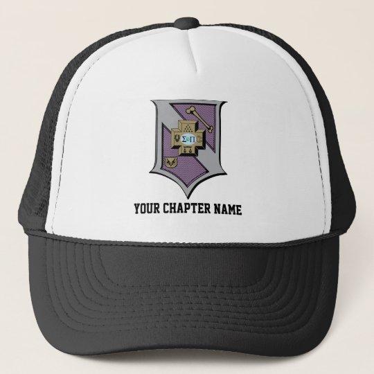 Sigma Pi Shield 4-Color Trucker Hat