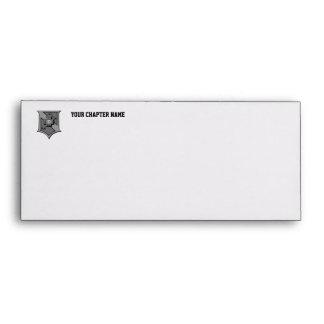 Sigma Pi Shield Grayscale Envelope