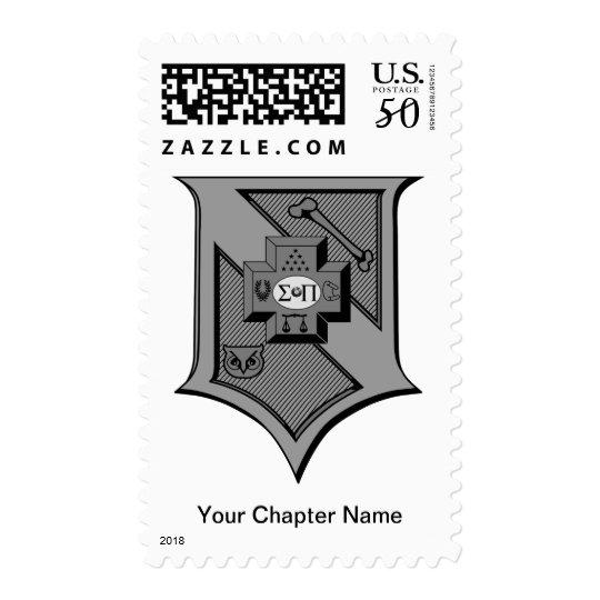 Sigma Pi Shield Grayscale Postage
