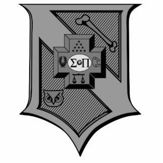 Sigma Pi Shield Grayscale Statuette