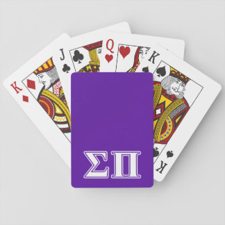 Sigma Pi White and Purple Letters Card Decks