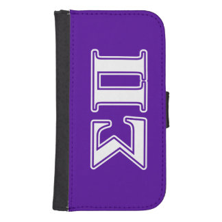 Sigma Pi White and Purple Letters Phone Wallet Cases