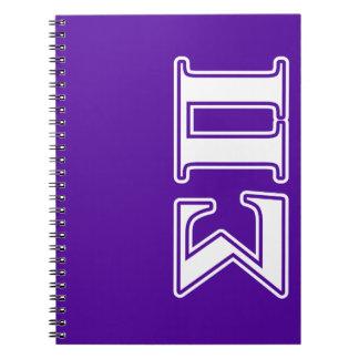 Sigma Pi White and Purple Letters Spiral Note Book