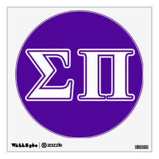 Sigma Pi White and Purple Letters Wall Stickers