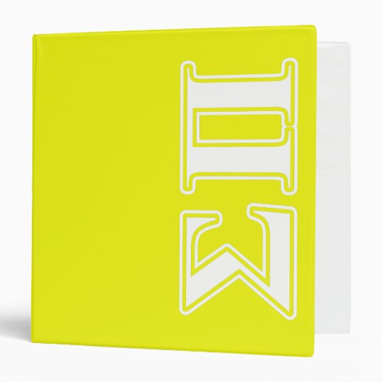 Sigma Pi White And Yellow Letters Binder