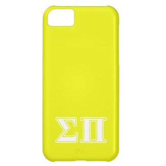 Sigma Pi White and Yellow Letters Cover For iPhone 5C