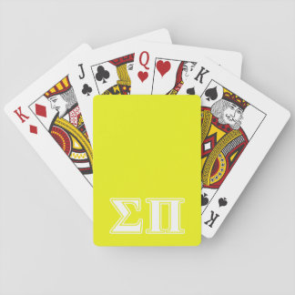 Sigma Pi White and Yellow Letters Card Deck
