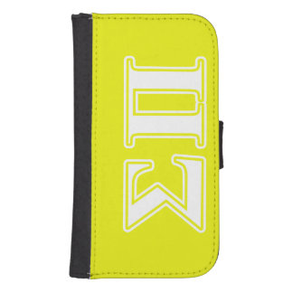 Sigma Pi White and Yellow Letters Phone Wallet Case