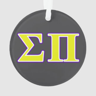 Sigma Pi Yellow and Purple Letters