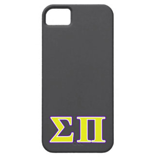 Sigma Pi Yellow and Purple Letters iPhone SE/5/5s Case