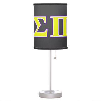 Sigma Pi Yellow and Purple Letters Lamps