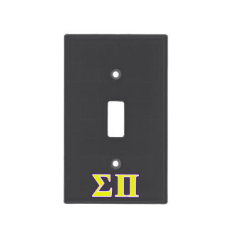 Sigma Pi Yellow and Purple Letters Light Switch Cover