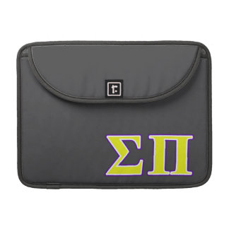 Sigma Pi Yellow and Purple Letters Sleeves For MacBooks
