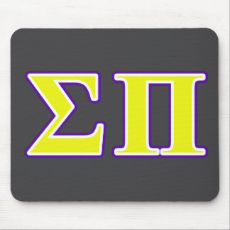 sigma pi yellow and purple letters mouse pad