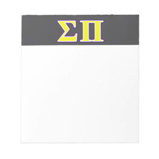Sigma Pi Yellow and Purple Letters Notepads