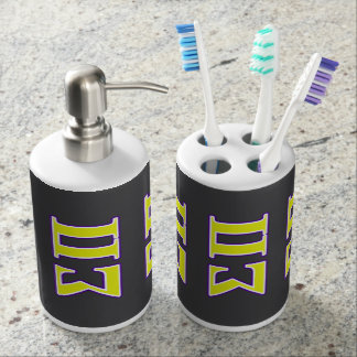 Sigma Pi Yellow and Purple Letters Bath Accessory Sets