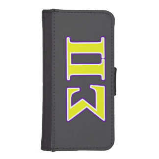 Sigma Pi Yellow and Purple Letters Phone Wallet Case