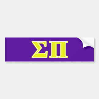 sigma pi yellow letters bumper sticker