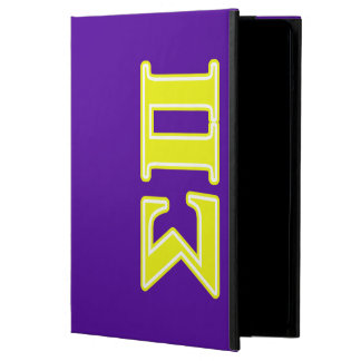 Sigma Pi Yellow Letters Cover For iPad Air