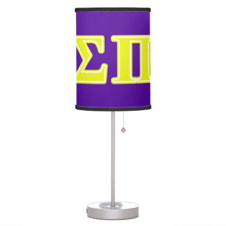 Sigma Pi Yellow Letters Desk Lamps