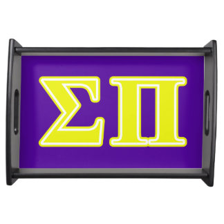 Sigma Pi Yellow Letters Food Tray