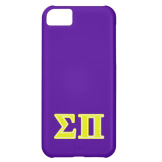 Sigma Pi Yellow Letters iPhone 5C Case