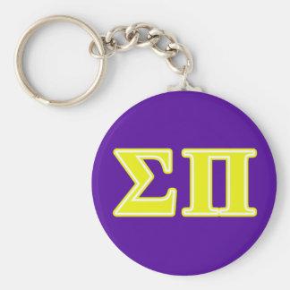 sigma pi yellow letters keychain