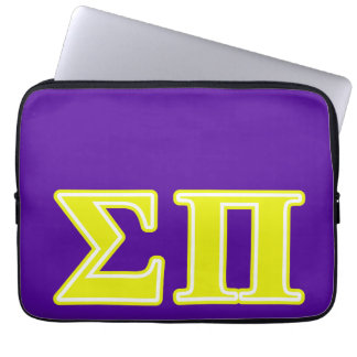 Sigma Pi Yellow Letters Laptop Sleeve