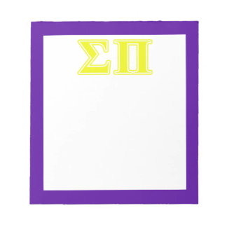Sigma Pi Yellow Letters Notepads