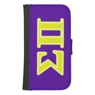 Sigma Pi Yellow Letters Phone Wallet