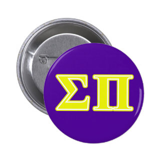 Sigma Pi Yellow Letters Pin