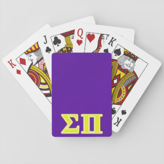 Sigma Pi Yellow Letters Playing Cards