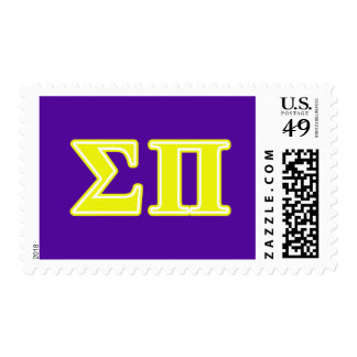 sigma pi yellow letters postage