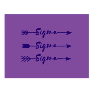 Sigma Sigma Sigma Arrow Postcard