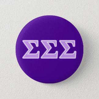 Sigma Sigma Sigma Lavender Letters Button