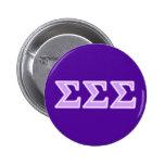 Sigma Sigma Sigma Lavender Letters 2 Inch Round Button
