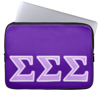 Sigma Sigma Sigma Lavender Letters Computer Sleeve