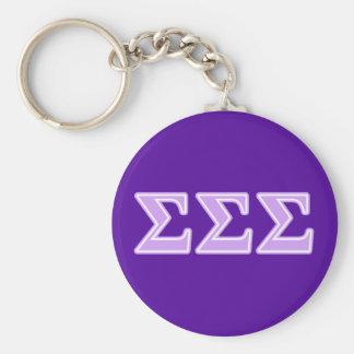 Sigma Sigma Sigma Lavender Letters Key Chains