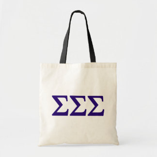 Sigma Sigma Sigma Lil Big Logo Tote Bag